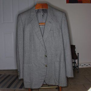 Ermenegildo Zegna Gray Wool Houndstooth Sport Coat